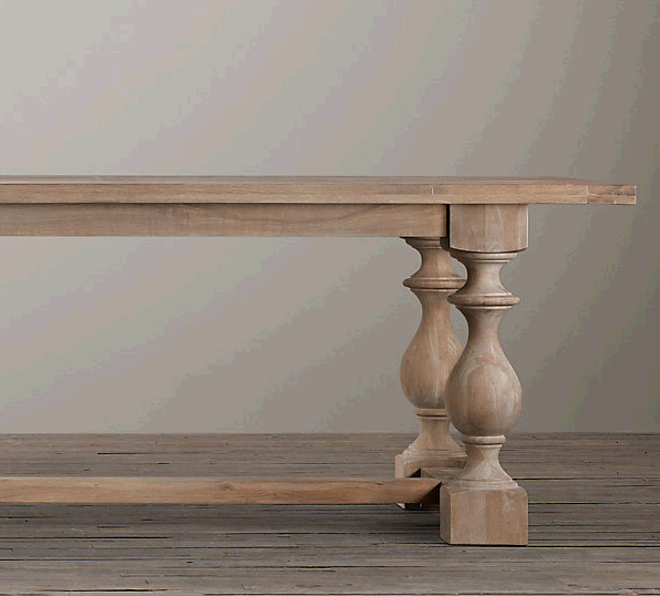 How to Graywash Furniture Likehearted : 17th c monastery rectangular dining tables rectangular dining tables restoration hardware 1 from iamlikehearted.com size 596 x 538 png 98kB