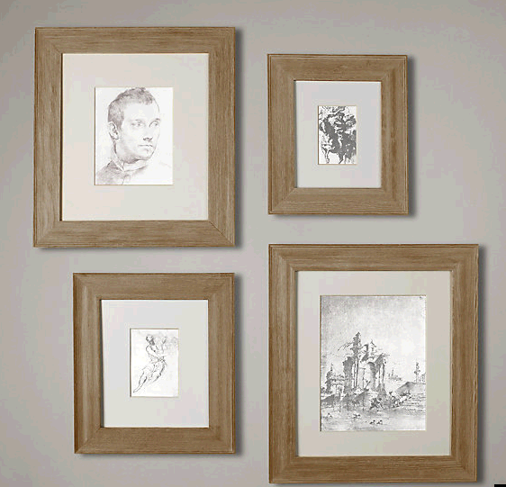 weathered oak gallery frames wide frames restoration hardware