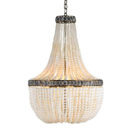 Diy beaded chandelier likehearted curreyandcompany aloadofball Choice Image