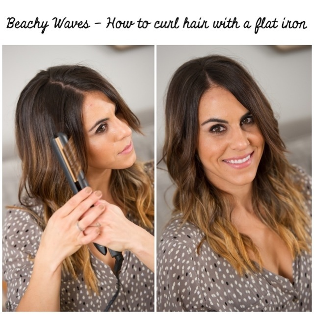 Beachy Waves How To Curl Hair Using A Flat Iron
