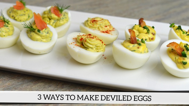3 ways to make deviled eggs