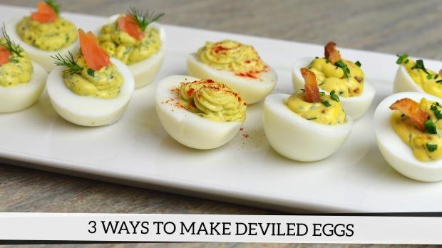 3 ways to make deviled eggs